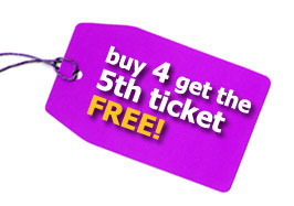 buy 4 get the 5th ticket free deal